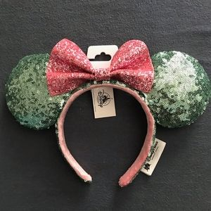 Disneyland Pink & Turquoise Minnie Mouse Ears